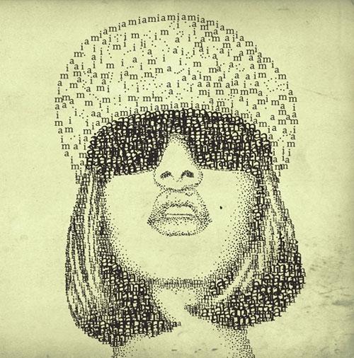mia Face Beautiful Example Of Text Art