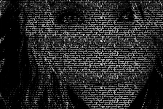 myself Beautiful Example Of Text Art and Typography Art