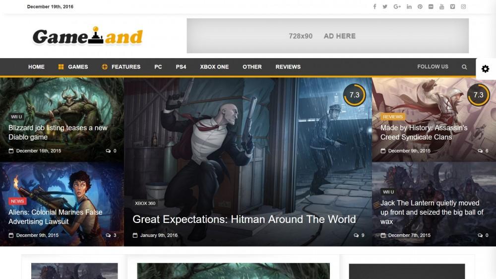 newsdesk Best Responsive Gaming WordPress Theme