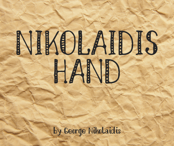 nikolaidis Best Free Font 2017 for Graphic Designers