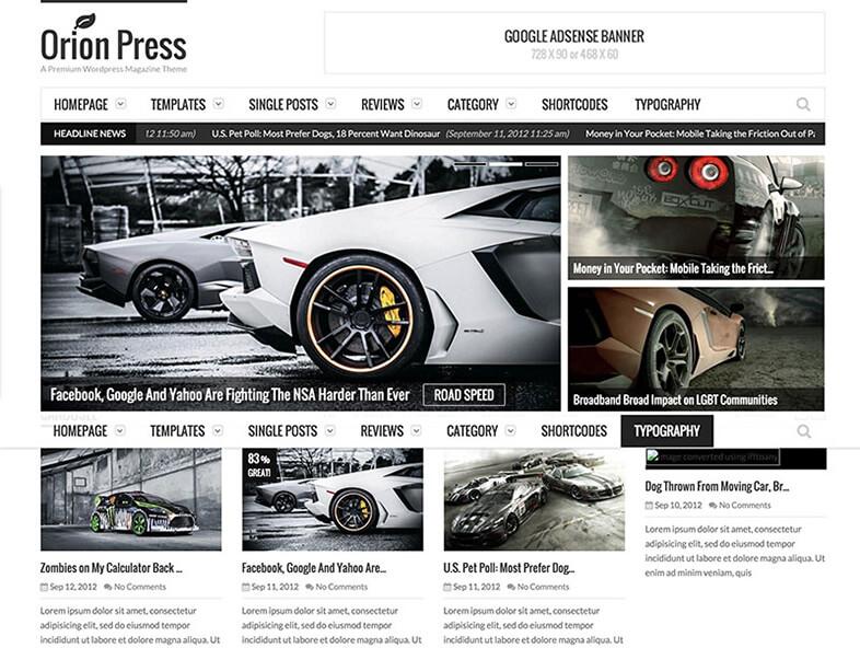 orion press Magazine WordPress