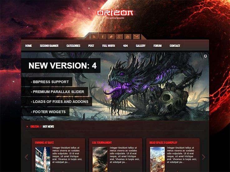 orizon Gaming WordPress