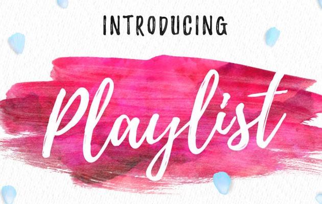 playlist Best Free Font