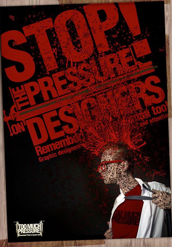 pressure Art and Typography Art