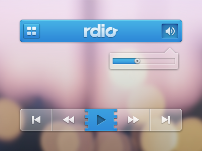rdio Video Player UI PSD