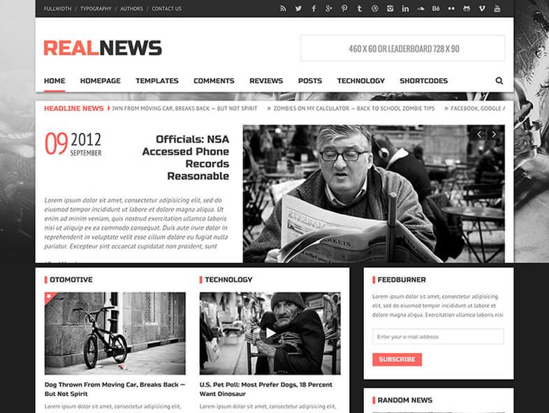 realnews Magazine WordPress Theme