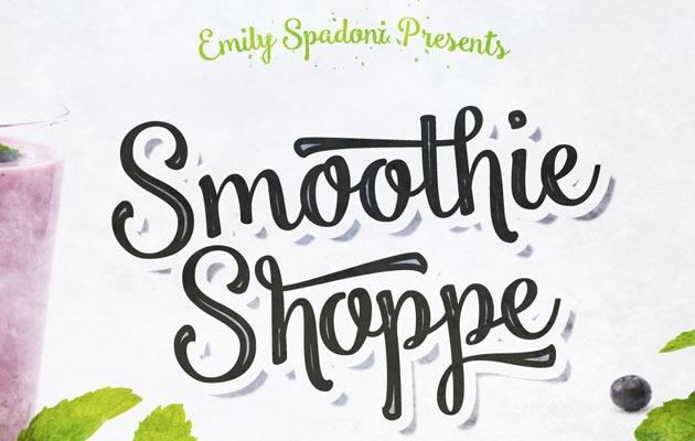 smoothie shoppie Font 2017