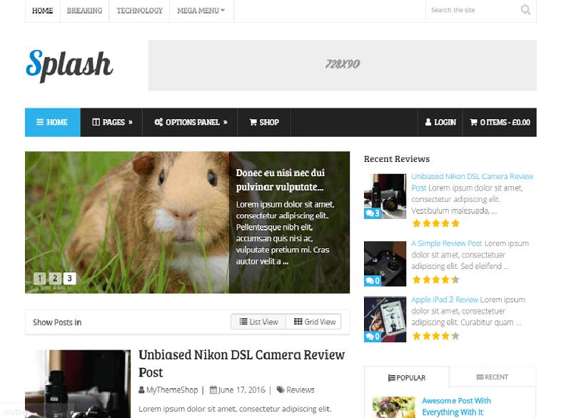 splash magazine WordPress Theme 2017