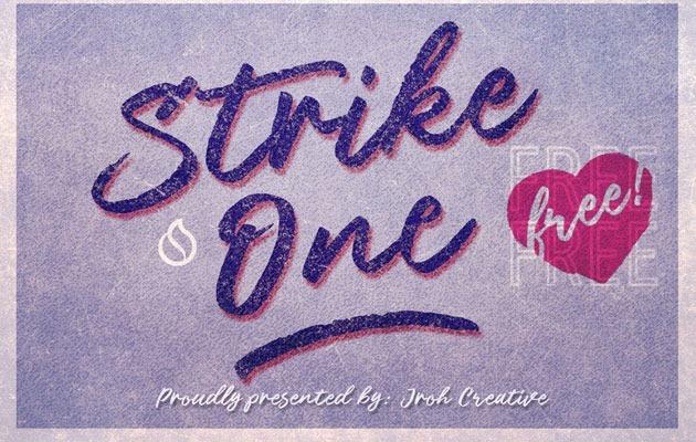 strike one Font 2017