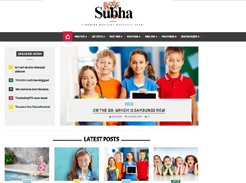 subha Responsive Magazine