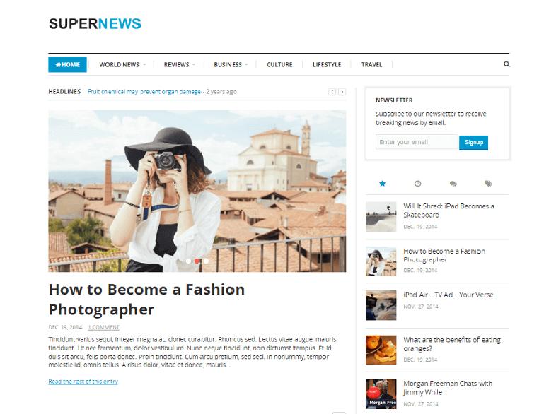 supernews Responsive Magazine