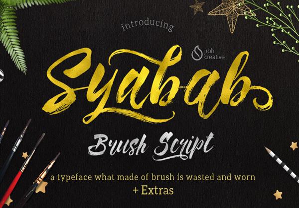 syabab Best Free Font 2017