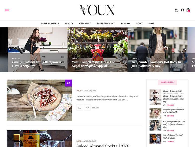 the voux Responsive Magazine