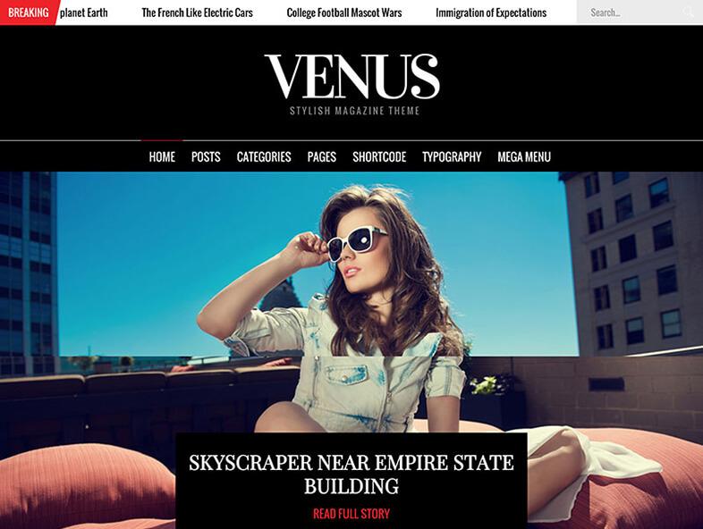 venus Best Responsive Magazine WordPress