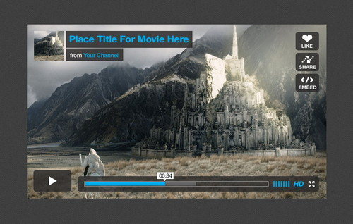 vimeo player ui kit Best Free