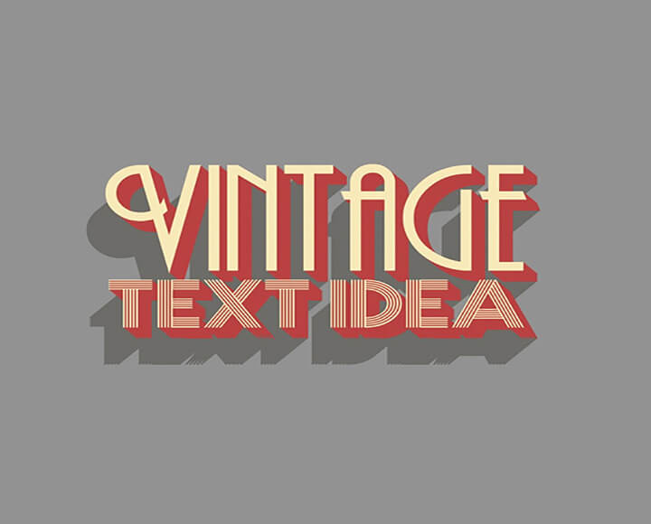 vintage Text Effects Download