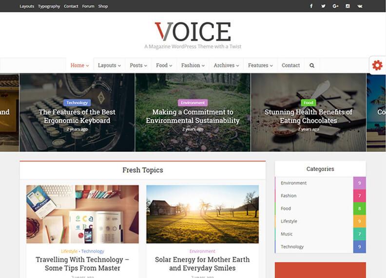 voice responsive Best Responsive Magazine WordPress