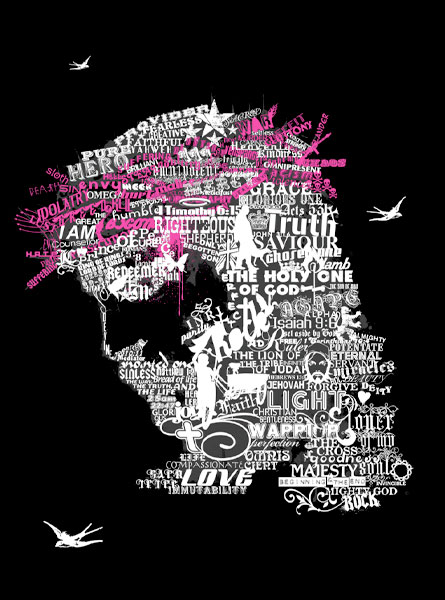 words Face Beautiful Example Of Text Art