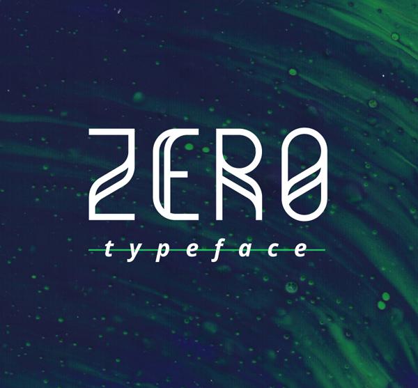 zero Best Free Font 2017