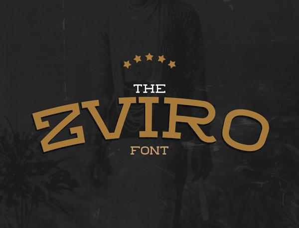 zviro Best Free Font 2017 for Graphic Designers