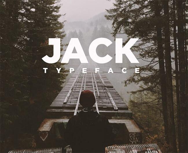 Jack geometric fonts