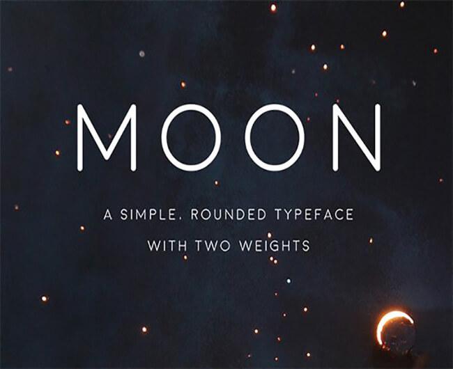 Moon Geometric Font