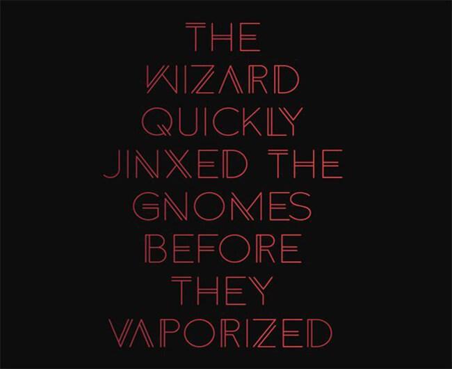 Wizard Geometric Font